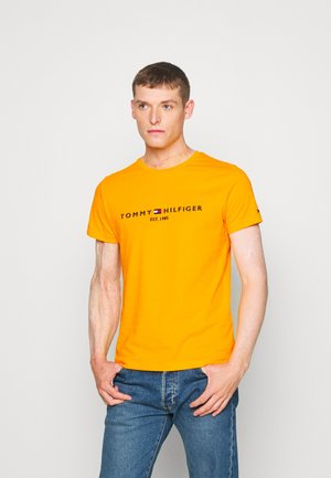 LOGO TEE - Print T-shirt - yellow