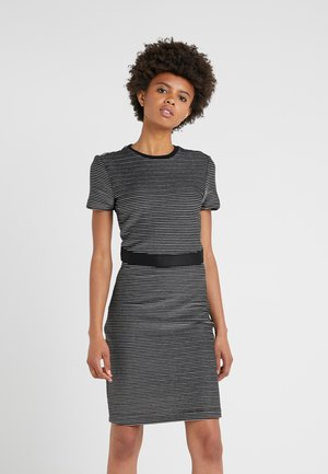 NIFANA  - Shift dress - black/white