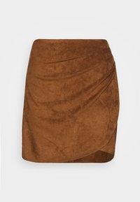 RUCHED MINI  - Áčková sukně - brown