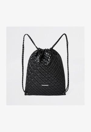 Drawstring sports bag - black