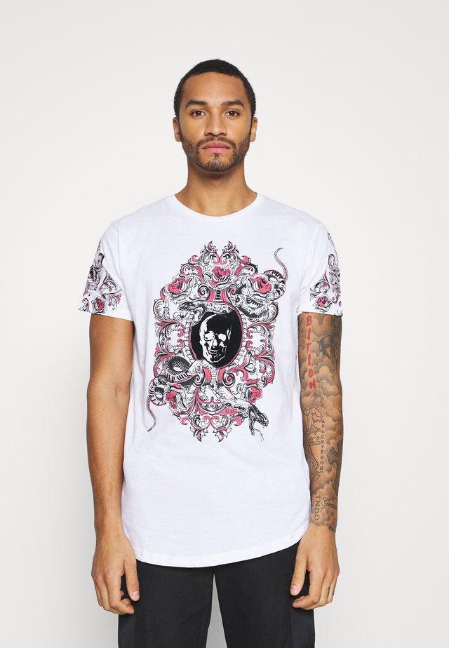 BOOLE - T-shirt imprimé - optic white