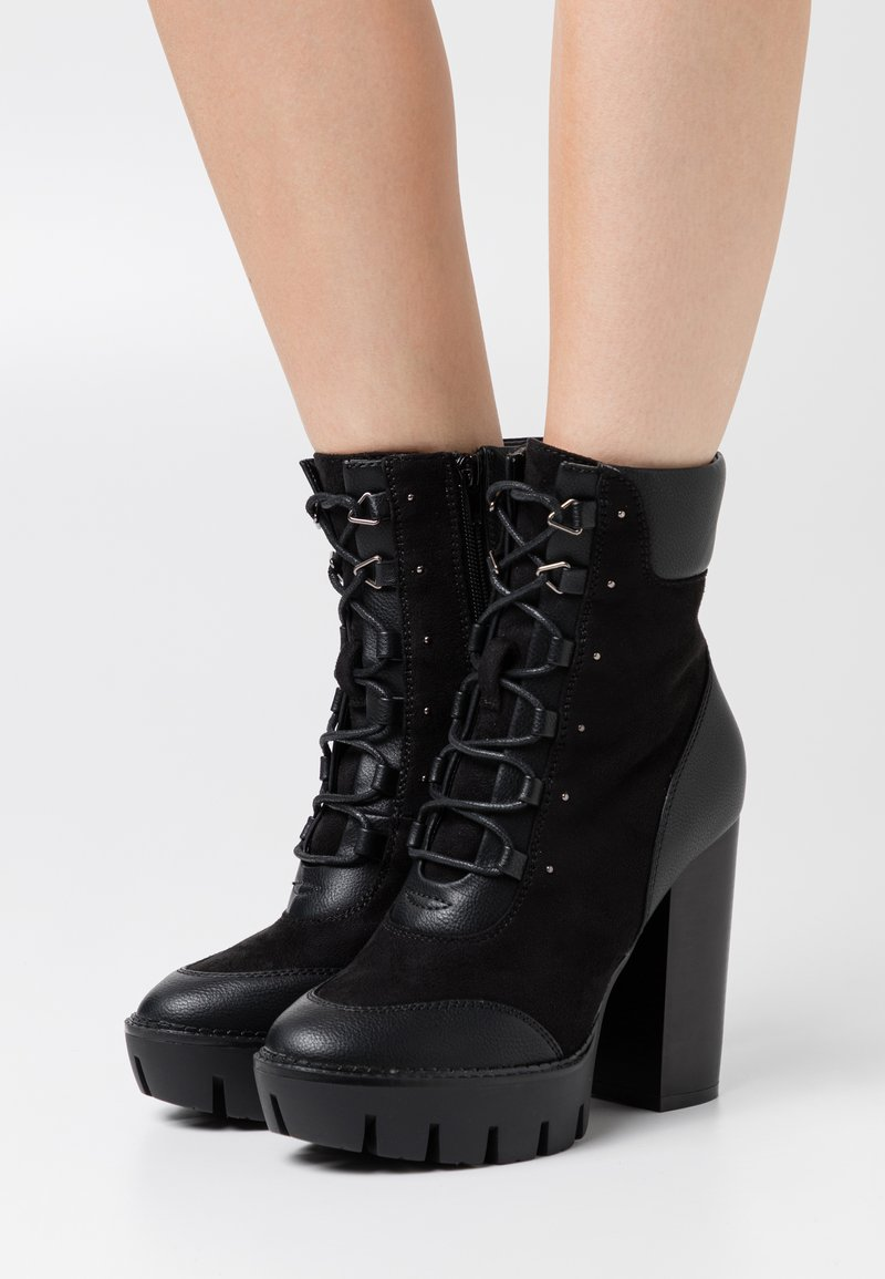 Even&Odd - Kotníková obuv na vysokém podpatku - black