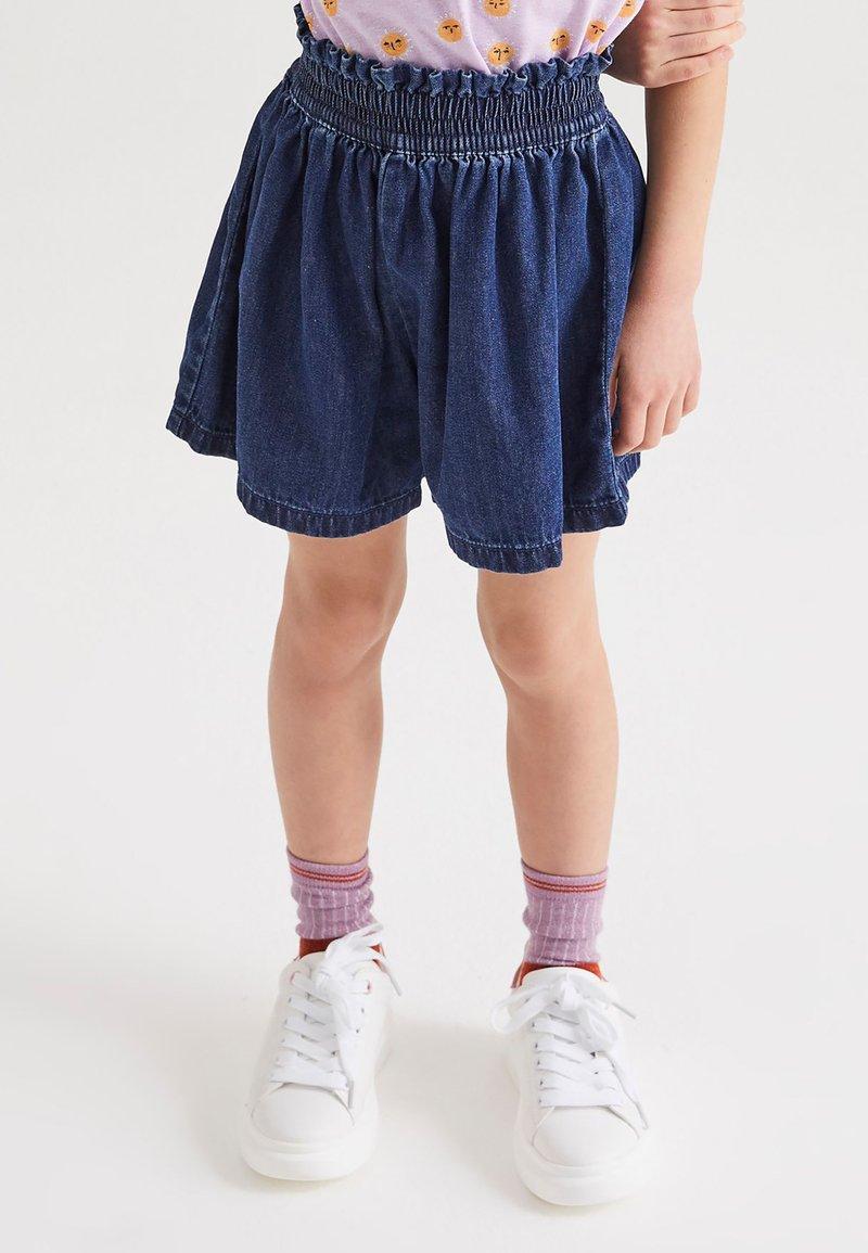 Next - Shorts - dark-blue denim
