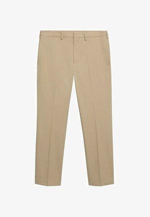 SLIM-FIT TISSU TECHNIQUE - Trousers - beige