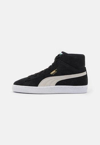 SUEDE MID XXI UNISEX - Sneakers alte - black/white/green