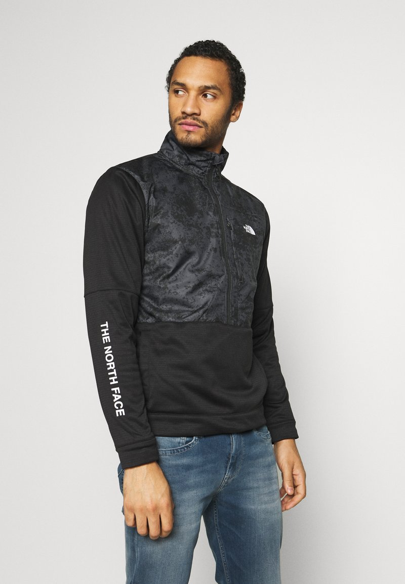 The North Face - TRAIN LOGO ZIP - Sweatshirt - black/asphalt grey