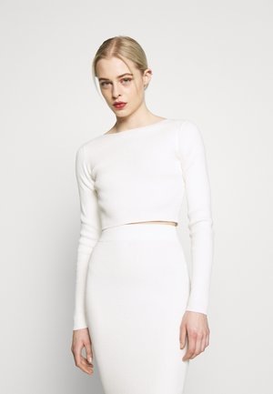 CROP JUMPER - Strikkegenser - off white