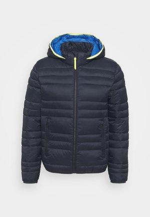 MAN JACKET ZIP HOOD - Winter jacket - blue
