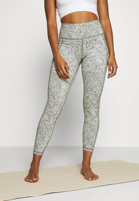 Sweaty Betty - SUPER SCULPT CROPPED YOGA LEGGINGS - Legging - green alert - 0