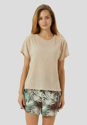 T-shirt basic - cammello