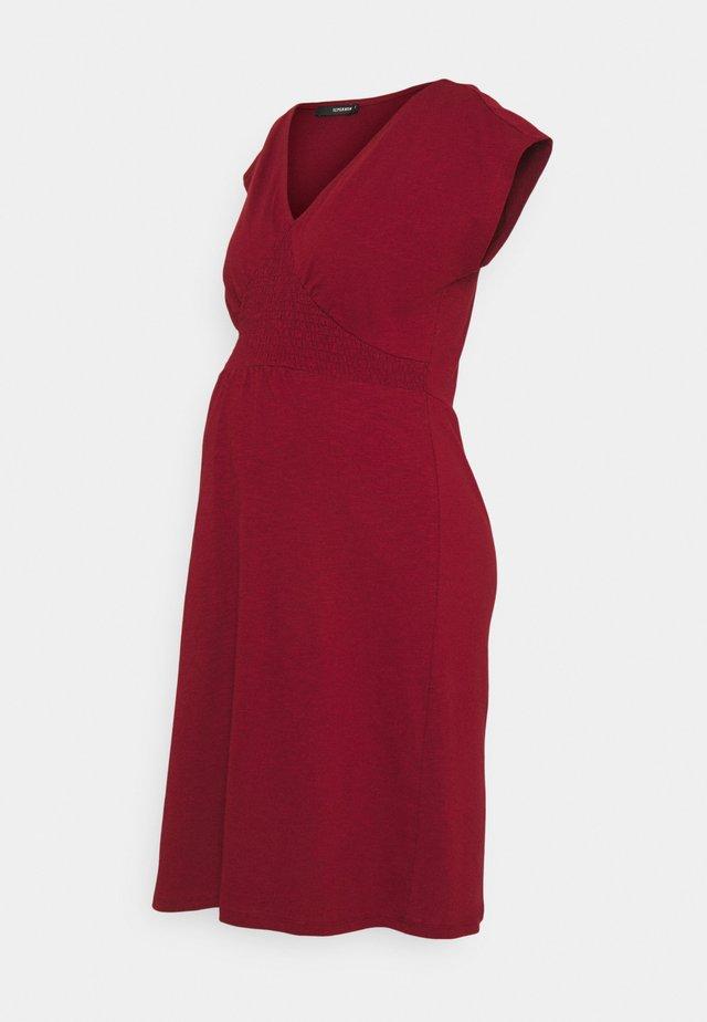 DRESS SMOCK - Žerzejové šaty - sun-dried tomato