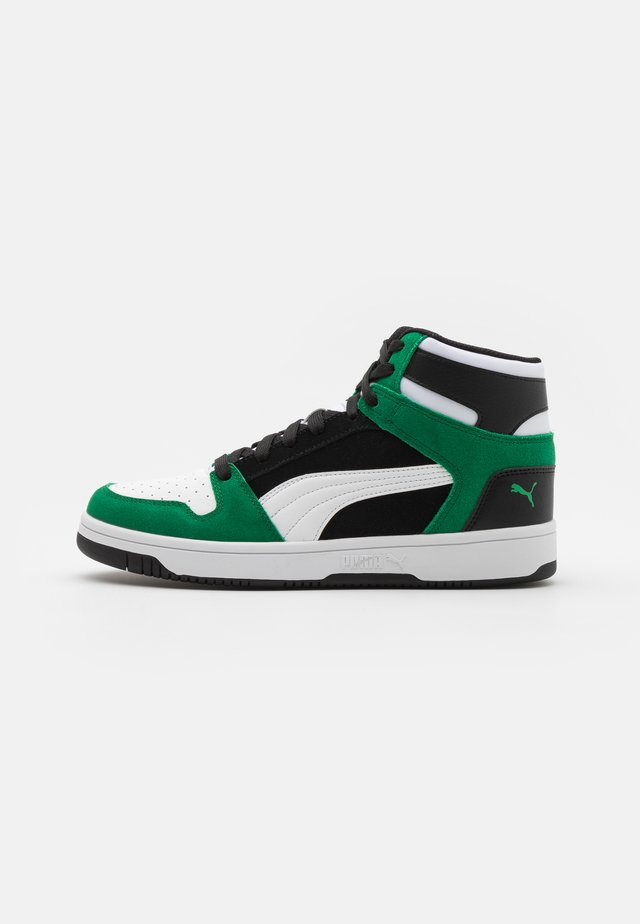 REBOUND LAYUP UNISEX - High-top trainers - black/white/green