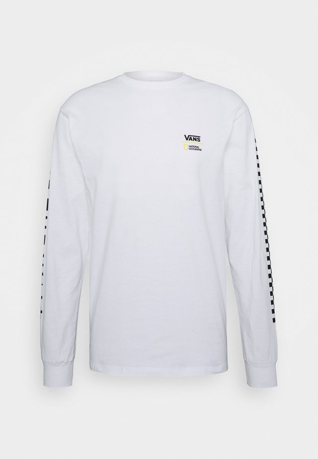 VANS X NATIONAL GEOGRAPHIC GLOBE  - Long sleeved top - white