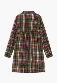 Benetton - HARRY ROCKER  - Shirt dress - red/green - 1