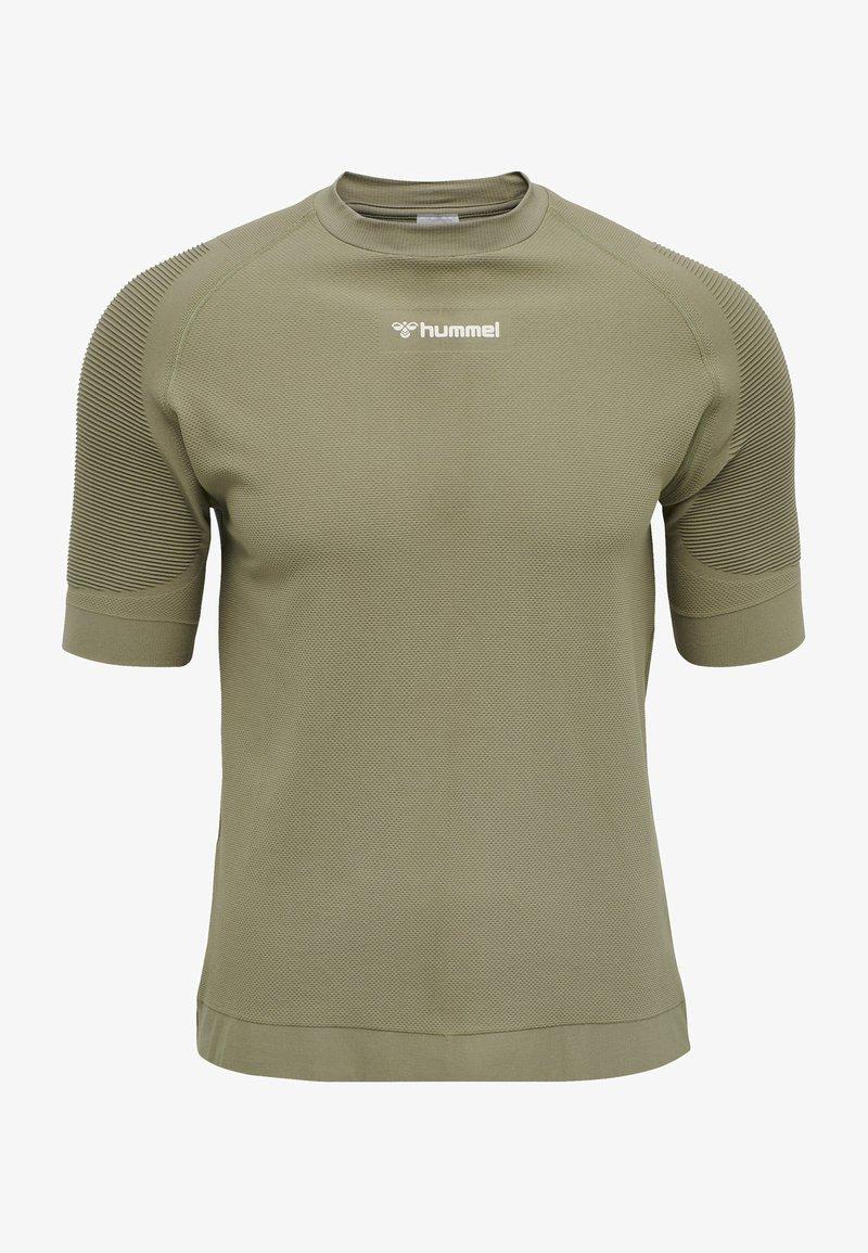 Hummel - HMLCUBE - Print T-shirt - vetiver