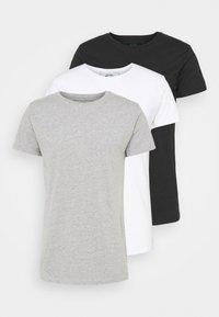ELON  3PACK - T-shirt basique - grey/white/black