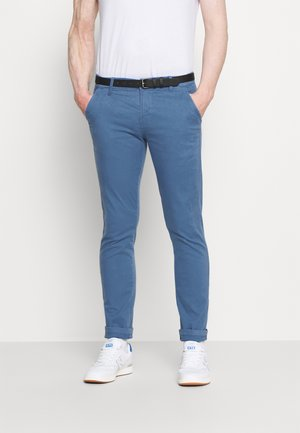 CLASSIC STRETCH BELT - Pantalones chinos - aqua blue