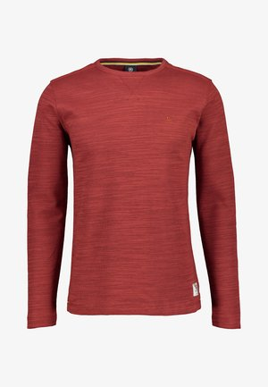 Long sleeved top - burnt red
