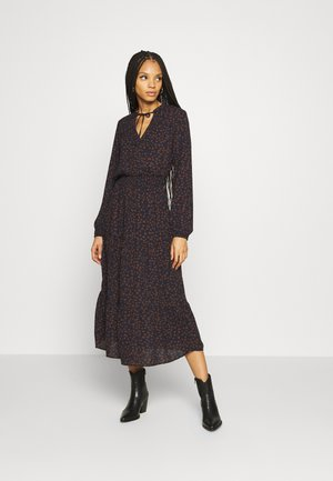 ONLJERRY DRESS - Robe d'été - peacoat/toffee