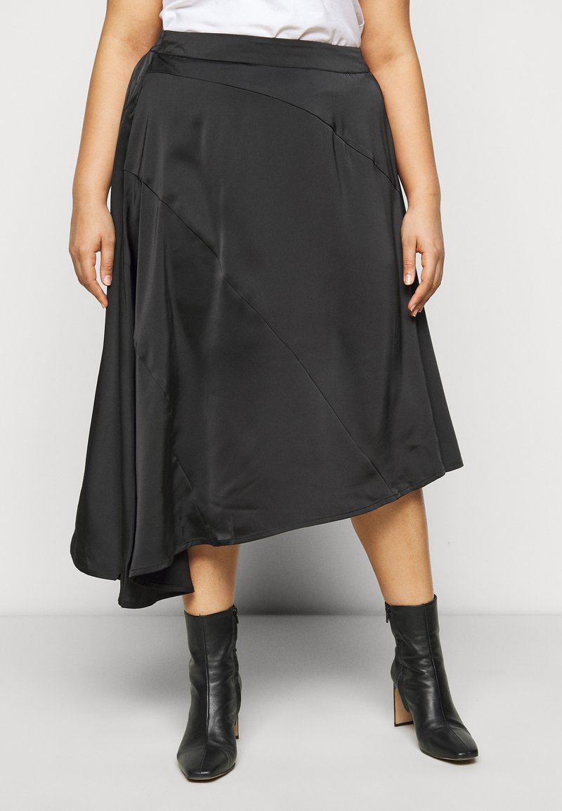 Vero Moda Curve - VMBLYSS CALF SKIRT - A-line skirt - black