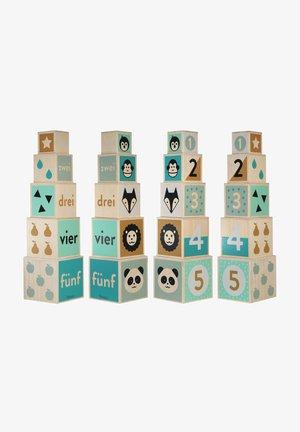 KINDSGUT HOLZ-STAPELTURM - Building blocks - multi-coloured