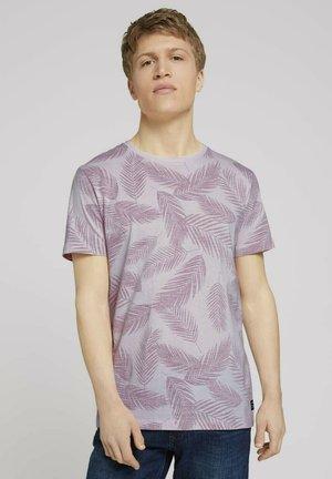 MIT PALMENPRINT - Print T-shirt - peach