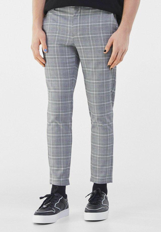 TAILORED - Chino kalhoty - mottled light grey