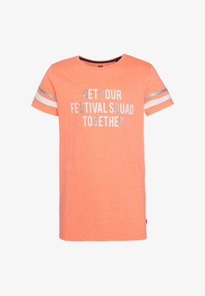 MET TEKSTOPDRUK - Print T-shirt - bright orange