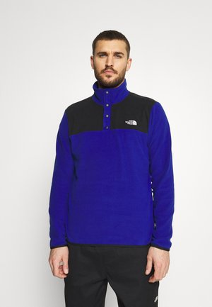GLACIER SNAP NECK - Fleece jumper - bolt blue/black