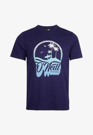 TEES GRADIENT VINTAGE SURF  - Print T-shirt - midnight blue