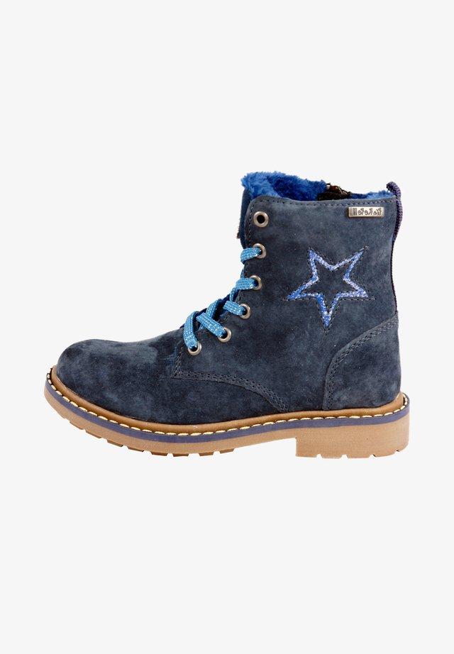 MIT REISSVERSCHLUSS - Lace-up boots - navy