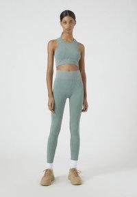 PULL&BEAR - SOUL MOVING - Legging - mottled blue - 1