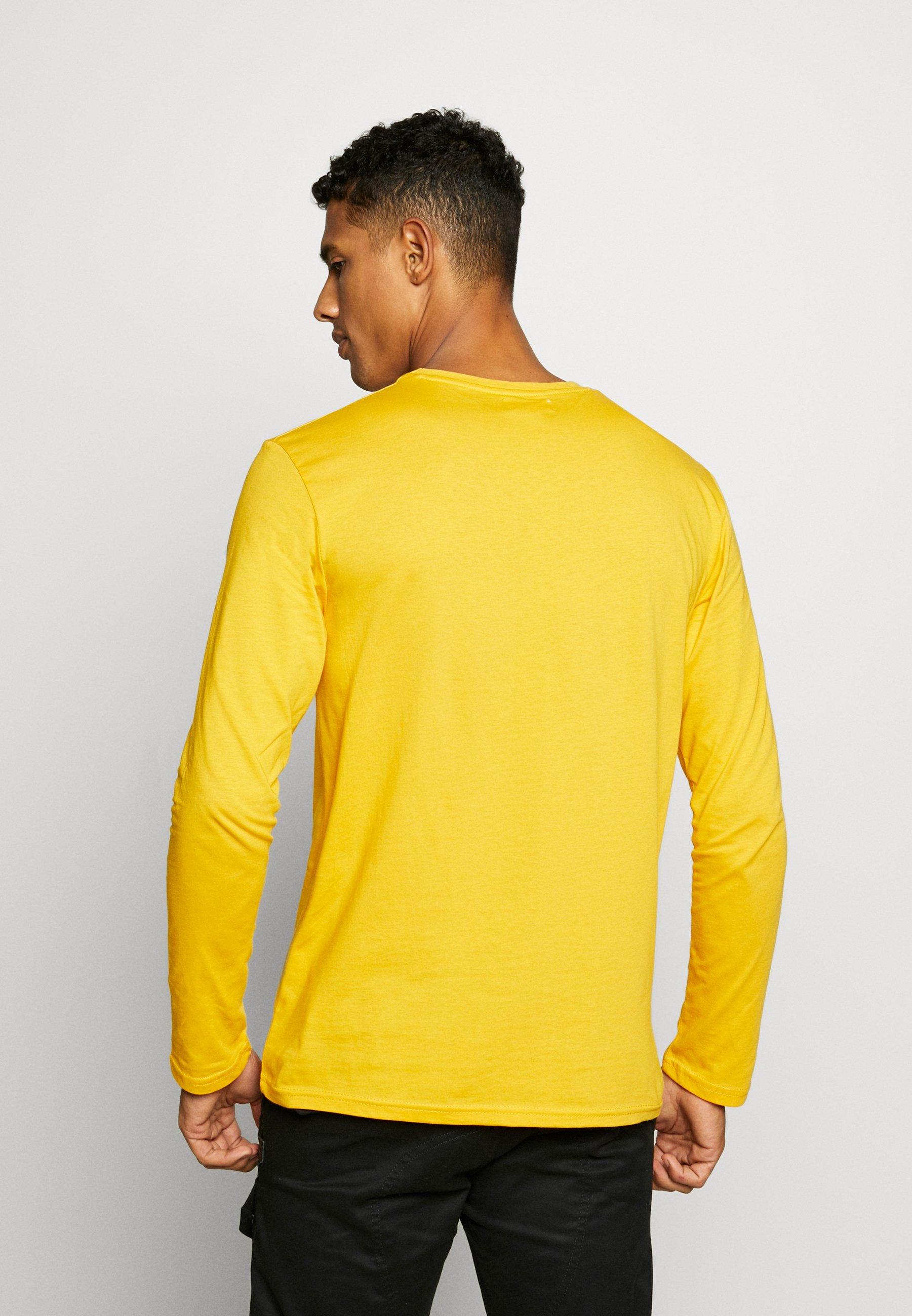 YOURTURN Long sleeved top - yellow 3QYBm
