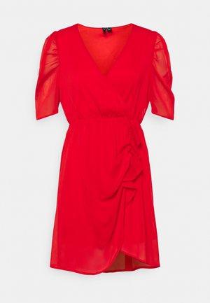 VMJEAN WRAP DRESS  - Robe de soirée - goji berry