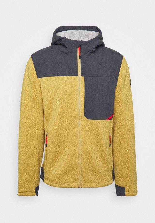 ALPS FULL ZIP HOODIE - Fleecová bunda - dune