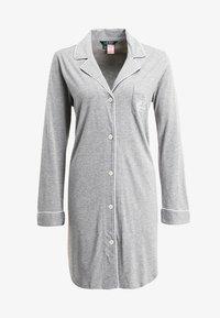 Lauren Ralph Lauren - HAMMOND CLASSIC NOTCH COLLAR SLEEPSHIRT - Nightie - heather grey - 4
