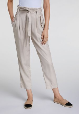 UTILITY STYLE - Trousers - light stone