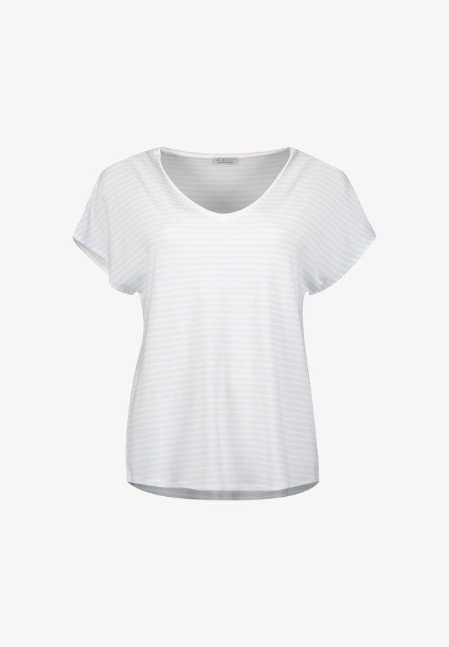 T-shirt z nadrukiem - stripe light blue