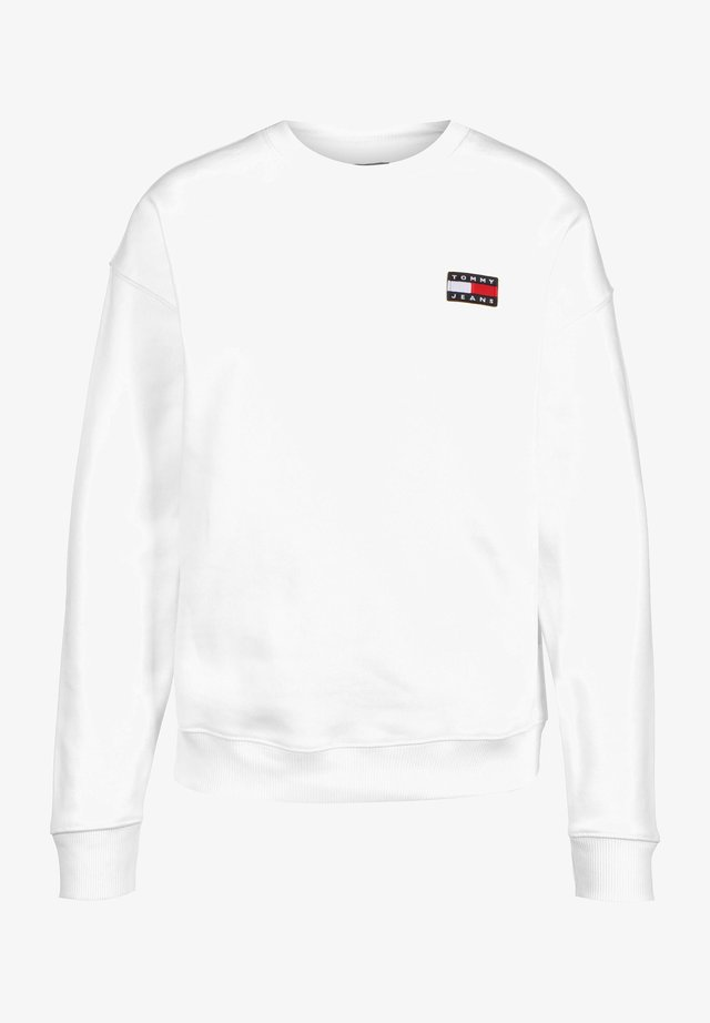 BADGE  - Sweatshirt - white