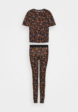 NIGHT JOSIE SET - Pyžamová sada - black