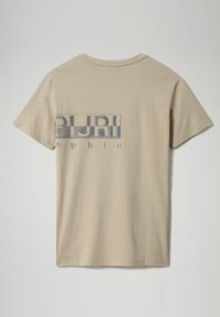 Napapijri - SALLAR LOGO - Print T-shirt - silver sage - 4