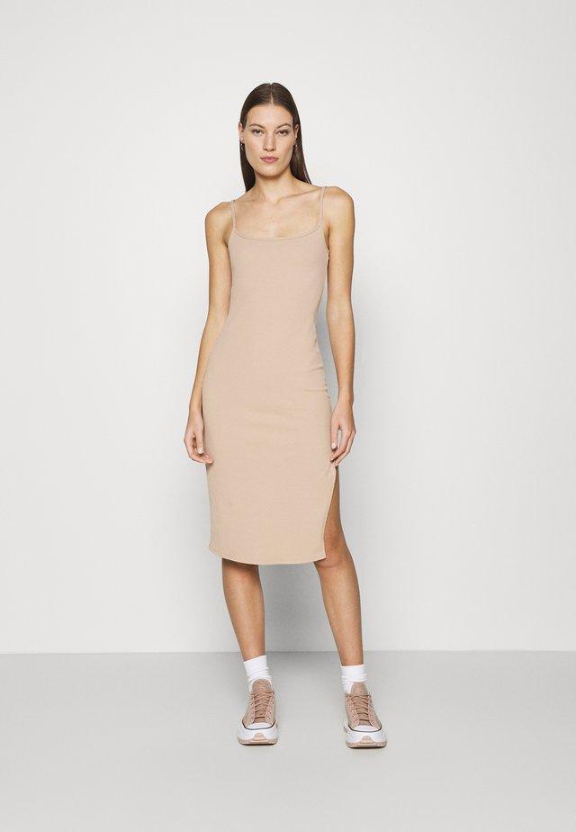 MIDI DRESS - Korte jurk - neutral brown