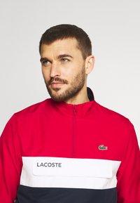 Lacoste Sport - TRACKSUIT - Träningsset - ruby/navy blue/white - 5