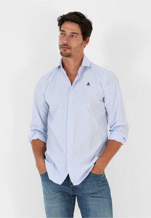 Shirt - light blue stripes