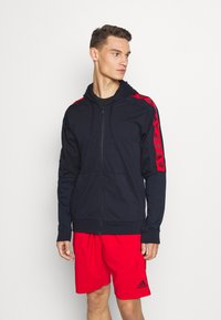 adidas Performance - Zip-up hoodie - legend ink/scarlet - 0