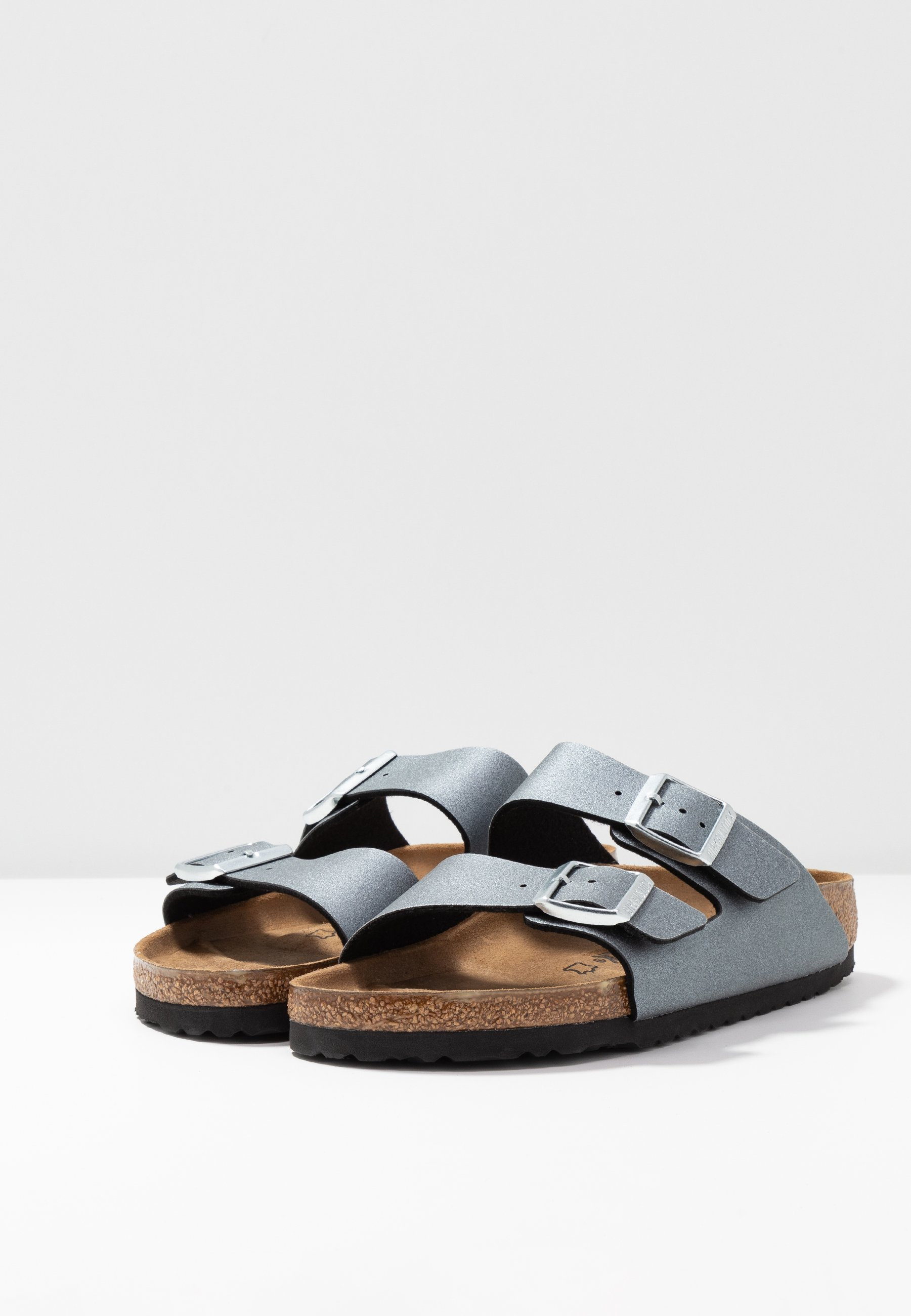 Birkenstock ARIZONA Hausschuh icy metallic anthracite/gunmetal