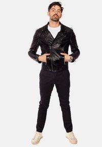 LEATHER HYPE - JORDAN PERFECTO - Leather jacket - black - 1