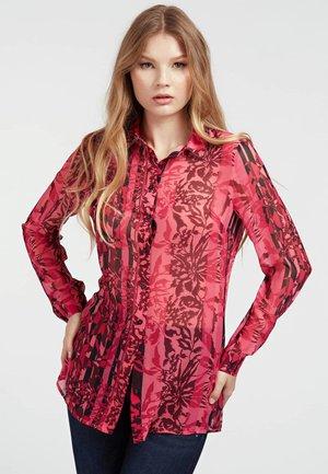 CLOUIS - Button-down blouse - rot/merf.