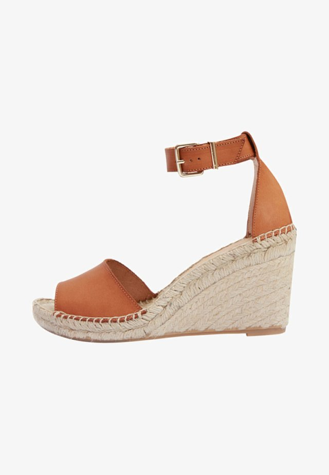 LEONA - Sandales compensées - brown