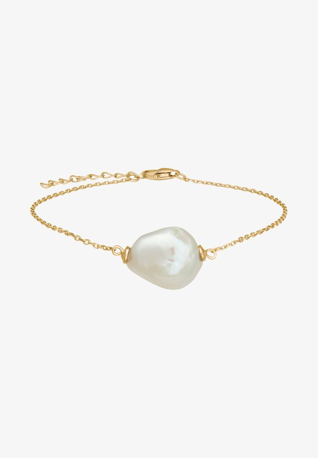 ARMBAND MIT SÜSSWASSERPERLE - Bracelet - gold